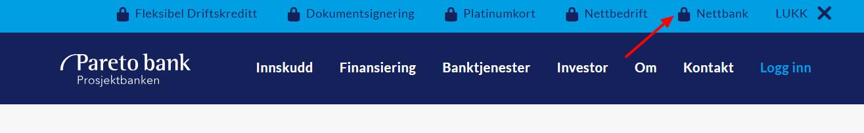 Pareto Bank Hjem logg inn nettbank