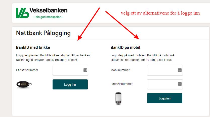 logg inn Voss Veksel- og Landmandsbank